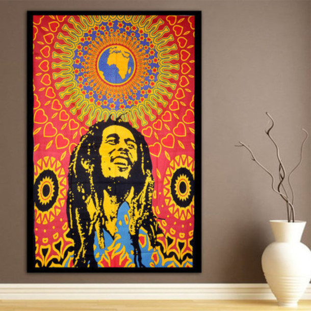 frame, colorful, bob marley, home accessory, hippie, tapestry ...