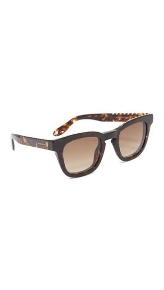 studded sunglasses brown