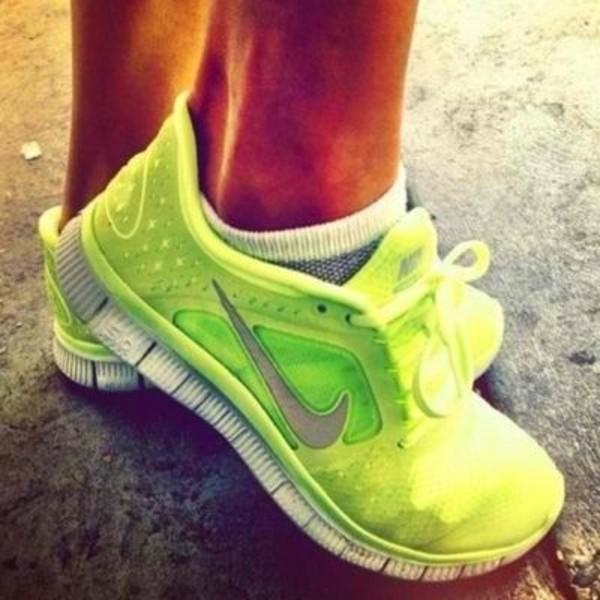 Nike Women Running Shoes Neon
