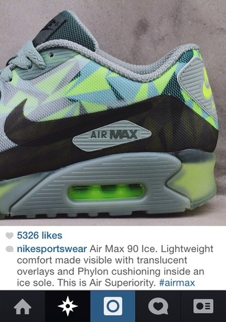shoes green shoes nike air max 90 multi colored