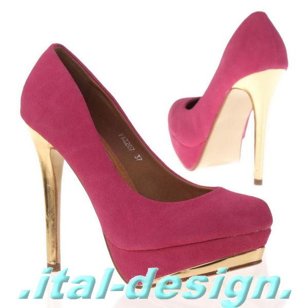 Luxus Neu Designer Damen Schuhe Pumps High Heels Plateau 2j90 Gr 36