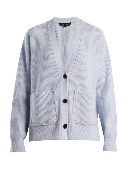 Proenza Schouler cardigan cardigan cotton knit light blue light blue sweater