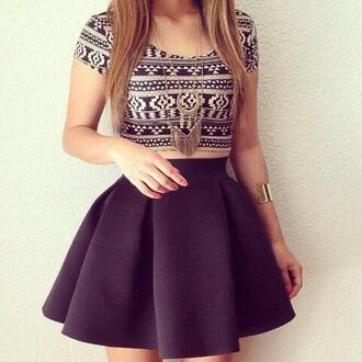 shirt aztec skirt jewels