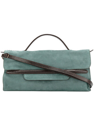 women bag leather green