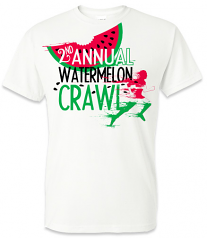 Watermelon Crawl White Vapor T-Shirt