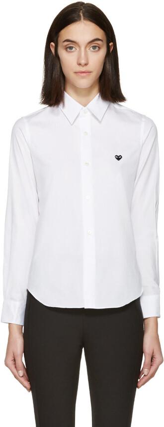 blouse heart white top