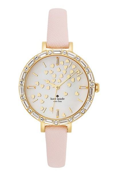 jewels kate spade watch watch pink nude blush heart gold blogger favorite cute jewelry kate spade kate spade