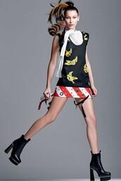 dress,mini dress,bella hadid,editorial,model