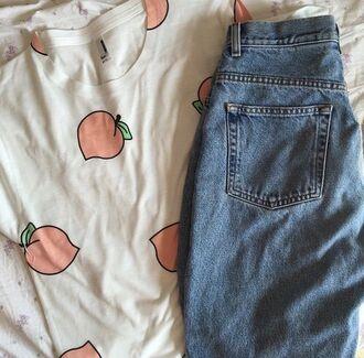 t-shirt peach shirt soft cute fashion