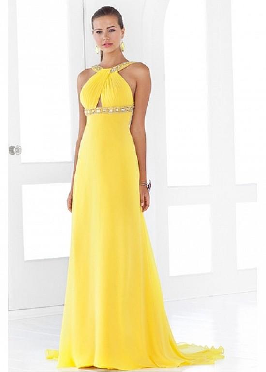 Stunning Chiffon A-line Halter neckline Prom Dress P2343