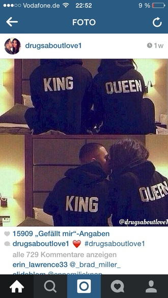 jacket couple king queen black t-shirt