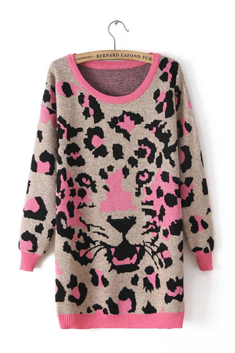 Autumn & Winter New Section Thickening Leopard Sweater,Cheap in Wendybox.com