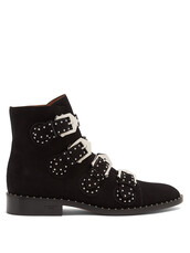 suede ankle boots,studded,elegant,ankle boots,suede,black,shoes