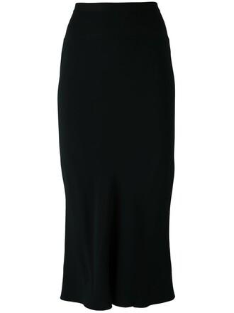 skirt pleated back black