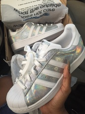shoes,adidas,superstar,nike,silver,iridescent,white,adidas shoes,adidas superstars,adidas originals,holographic