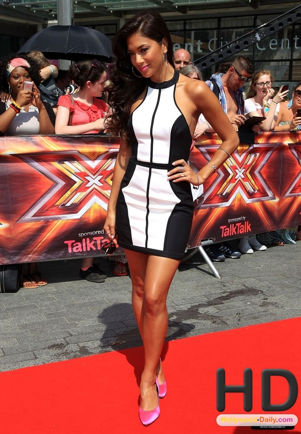 dress black and white black white sexy short hair shoes jewels x factor pink mini dress nicole scherzinger