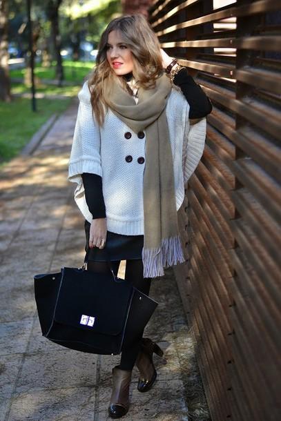 mi aventura con la moda blogger oversized knitwear maxi bag skirt