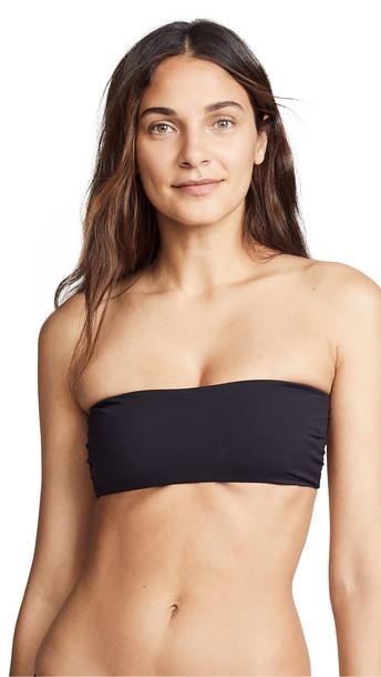 Tori Praver Swimwear Royale Bandeau Bikini Top in black