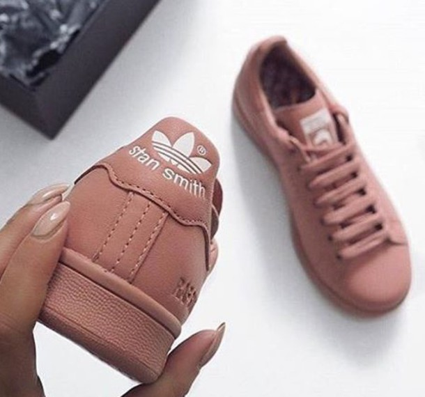 shoes adidas adidas superstars kind of dark pink mauve shoes sneakers stan  smith tennis peach pink 4e71614450b1