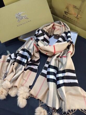 scarf burberry wool scarf brand new