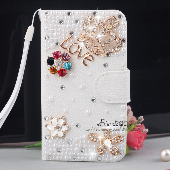 Bling Diamond Wallet Leather Hard Case for Samsung Galaxy S2 II T989 T Mobile | eBay