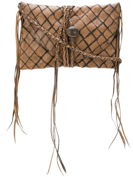 Caravana women bag clutch leather brown