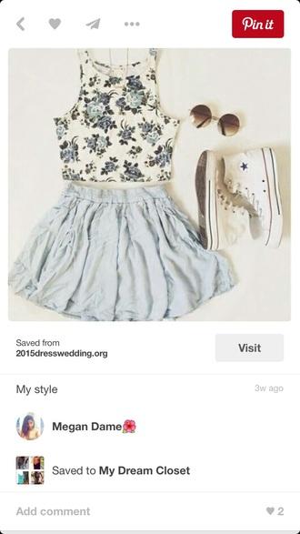 skirt blue light wash skirt top
