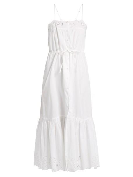 MES DEMOISELLES dress midi dress cute midi cotton white