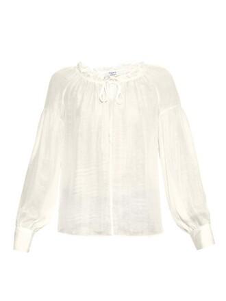 blouse chiffon blouse chiffon ruffle silk top