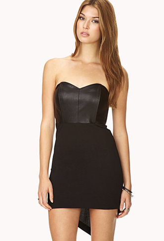 Bombshell Faux Leather Tube Dress | FOREVER21 - 2000090251