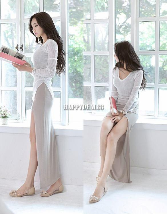 Hd23l women sexy sleeveless high low swallow tail irregular hem long vest dress