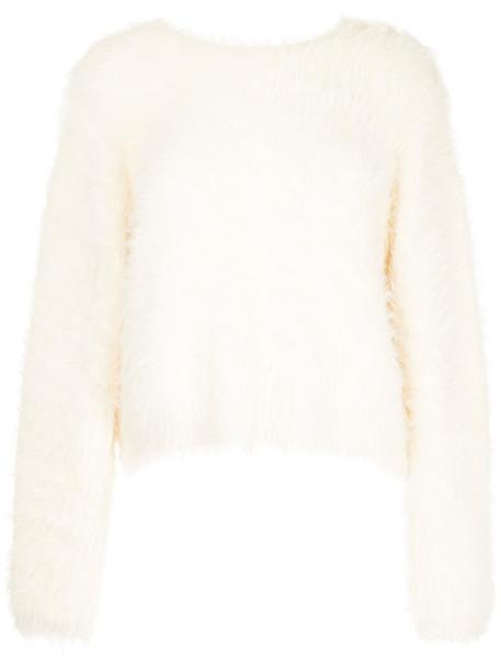 En Route jumper women fluffy white sweater