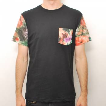 Mighty Healthy  Digi Floral Pocket T-Shirt - Black - Mighty Healthy from Native Skate Store UK