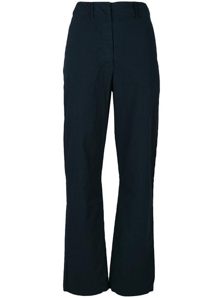 Kristensen Du Nord - straight leg trousers - women - Cotton/Cashmere/Polyamide - 0, Blue, Cotton/Cashmere/Polyamide