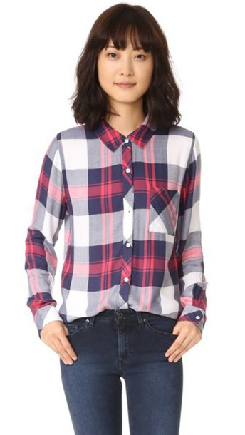 Rails shirt button down shirt white blush top