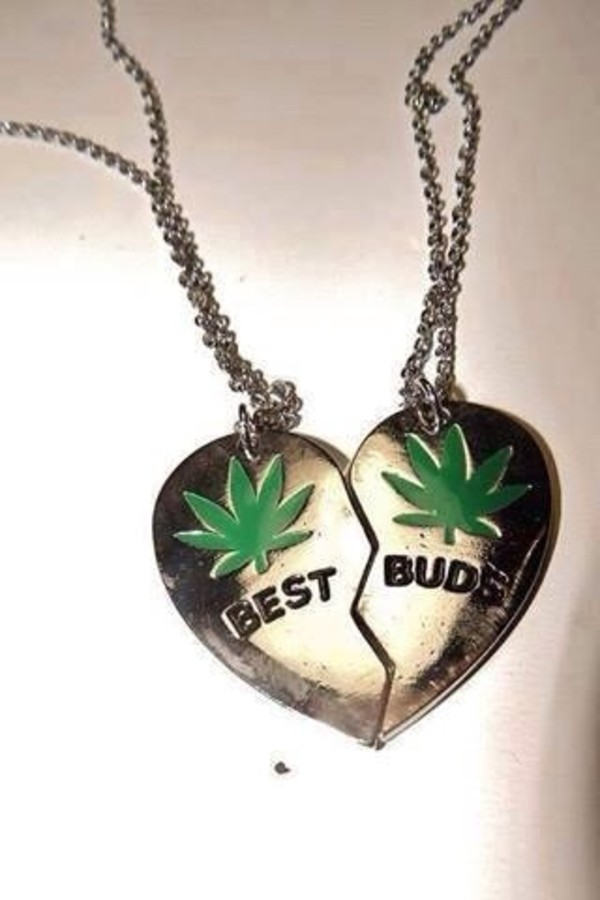 jewels weed friendship necklace sweater marijuana