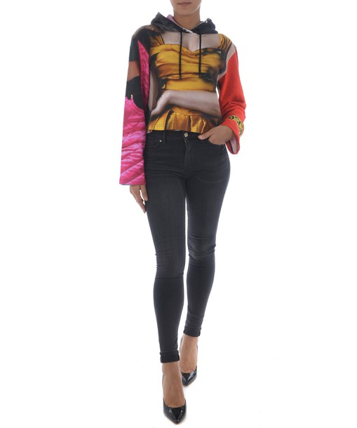 Moschino hoodie multicolor sweater