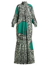 jumpsuit,tiger,print,green