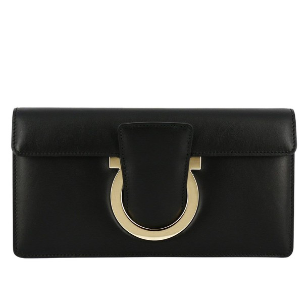 Salvatore Ferragamo women bag clutch shoulder bag black