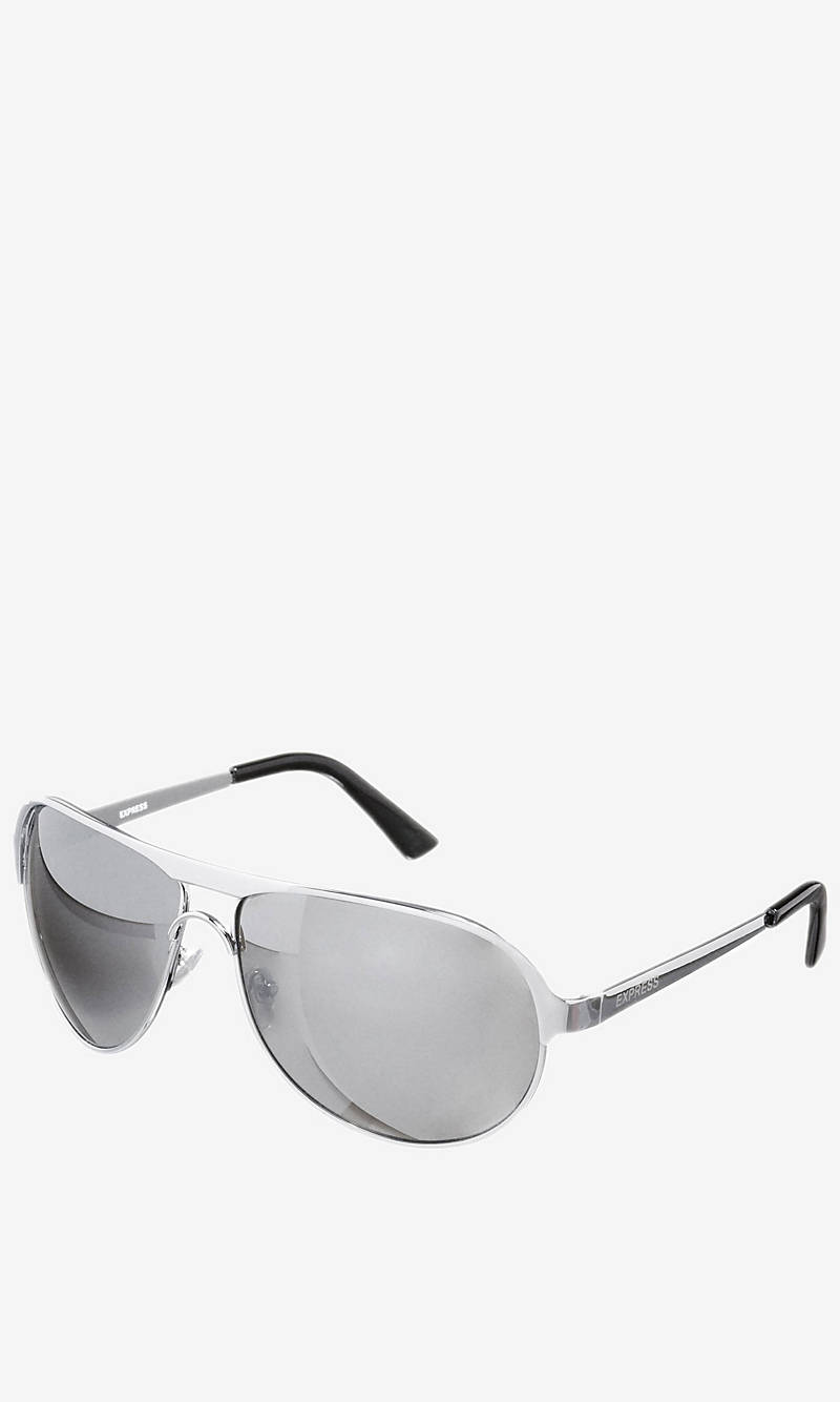 LARGE METAL AVIATOR SUNGLASSES from EXPRESS