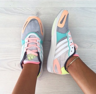 shoes sneakers basket colorful run running adidas running shoes adidas shoes