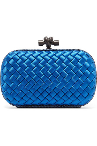 clutch satin blue bag