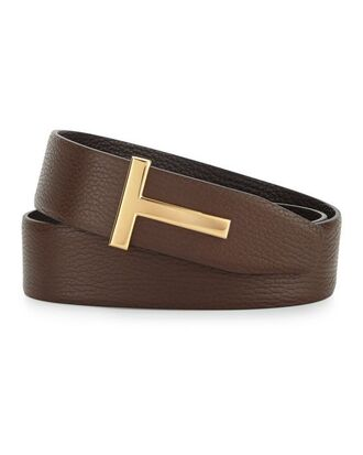 belt tom ford brown gold leather