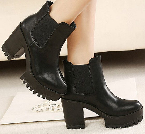 fashion martin boots for women chunky high heels platform shoes woman 2013 pumps punk ankle booties party girls SXX35837-in Boots from Shoes on Aliexpress.com | Alibaba Group