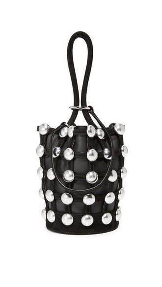 mini ball bag bucket bag black