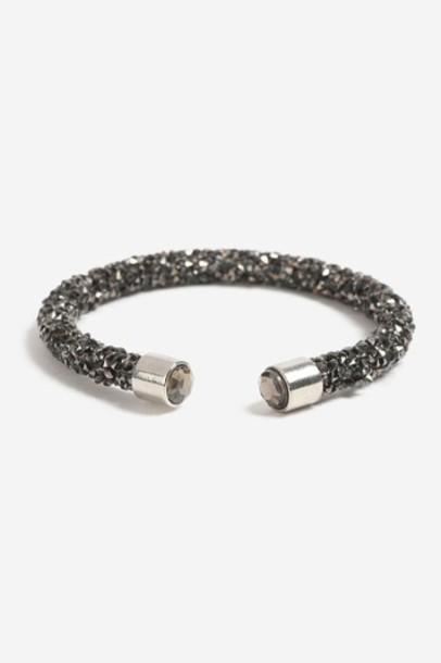 Topshop cuff black jewels