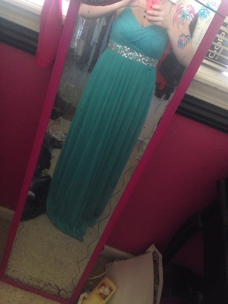 dress teal dress long prom dress prom dress sparkly dress long dress elegant dress
