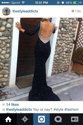 dress prom dress black diamonds glitter