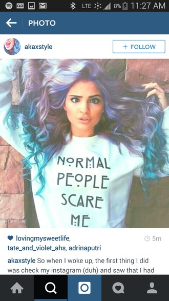 sweater american horror story normal people scare me