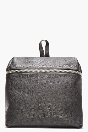 Kara Black Leather Box Backpack for women | SSENSE